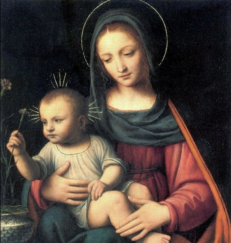 Madonnas attributed to Bernardino Luini, Italian High Renaissance Painter, c 1480-1532