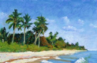 Watercolor and Pastel on Marco Island