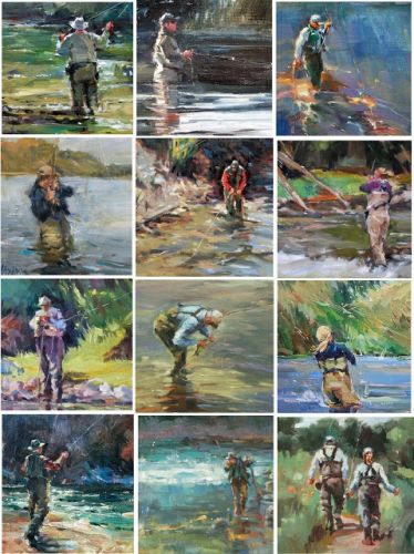 Fly Fisher Collage