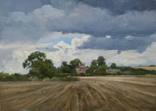 Stormy Sky over Farmstead by Lyddington