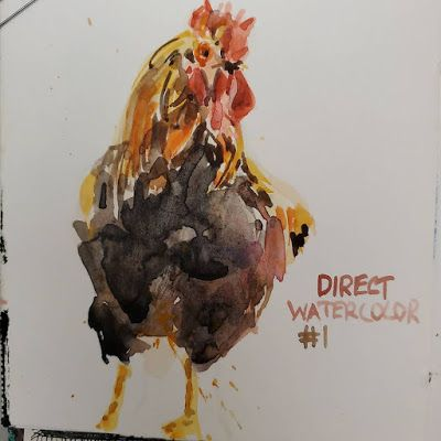 Direct watercolor Day 1 and my definition of direct watercolor