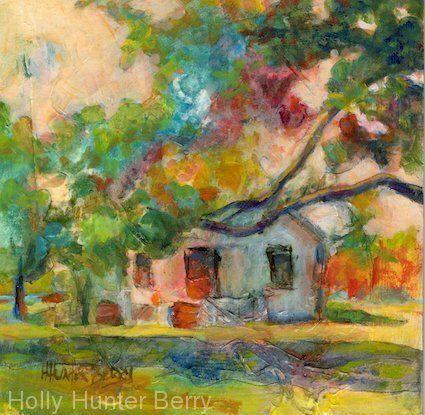 """Contemporary Colorful Landscape Painting, Mixed Media, Fine Art For Sale, """"Do You Remember"""" By Passionate Purposeful Painter Holly Hunter Berry"""