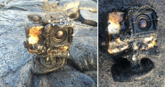 This GoPro Got Covered by Lava, Burst Into Flames. and Survived