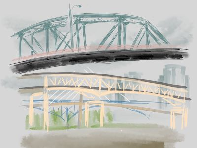 Hawthorne Bridge from the Esplanade