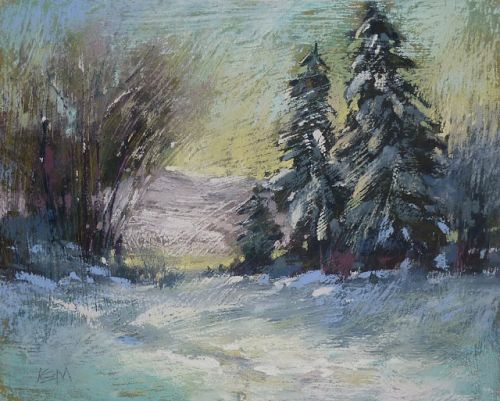 How To Make a Great Homemade Pastel Surface for Winter Landscapes