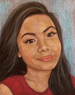 Evelyn's portrait in pastel by Kim Blair