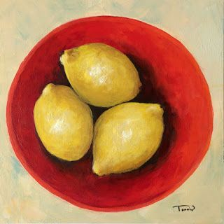 Day Nine of the 30 Paintings in 30 Days ~ Three Lemons
