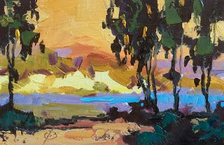 LAGUNA BEACH FRAMED OIL PAINTING by TOM BROWN