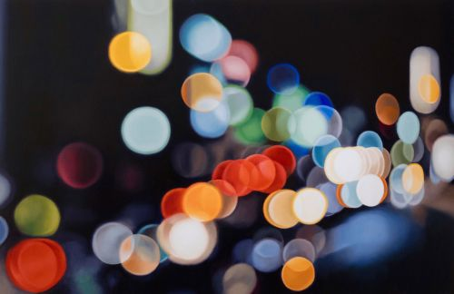 Out-of-Focus Paintings by Philip Barlow Capture the Twinkling Lights of Cityscapes at Night