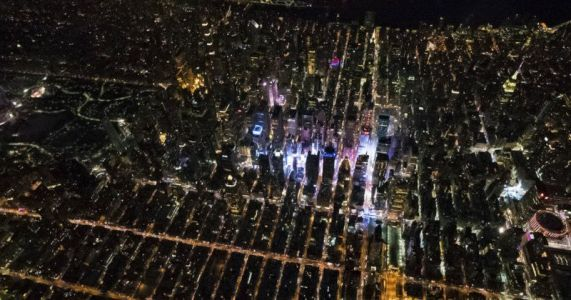I Shot the New Year's Eve Ball Drop in Times Square from a Helicopter