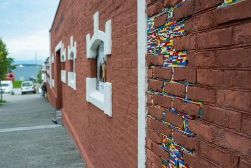 Jan Vormann Invites Playful Interaction by Patching Crumbling Walls with LEGO Bricks