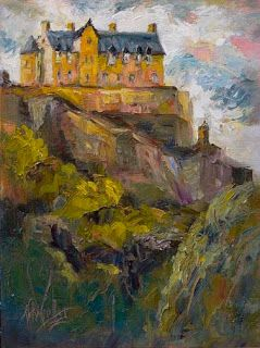 "New ""Edinburgh Castle"" Palette Knife Painting from Edinburgh, Scotland by Niki Gulley"