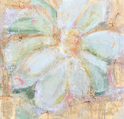 """Contemporary Abstract Expressionist Floral Painting """"FOR THE HOMECOMING DANCE"""" by Abstract Artist Pamela Fowler Lordi"""