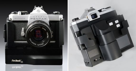 The I'm Back 35 Lets You Add a Digital Sensor to Almost Any Old Film Camera
