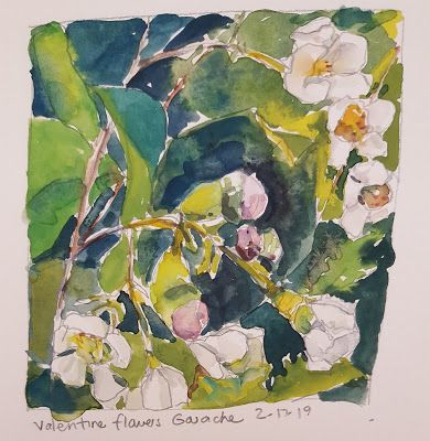 Flowers in Gouache