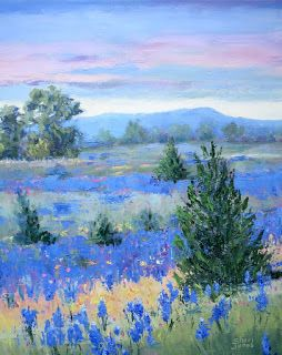Seeds of Texas, New Contemporary Landscape Painting by Sheri Jones