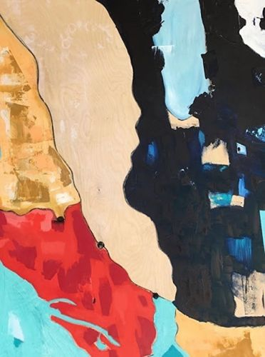 """Contemporary Art, Abstract,Expressionism, Studio 9 Fine Art """"Uncharted Territory part II"""" by International Abstract Artist Amanda Saint Claire"""