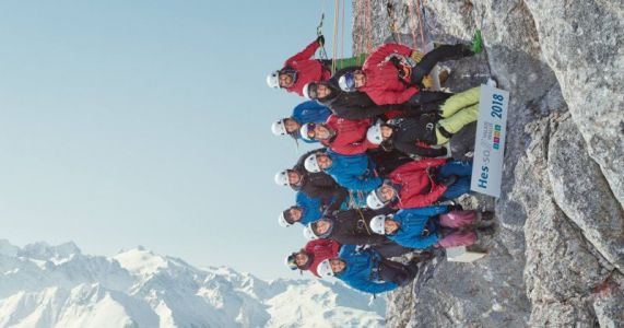 These Students Took a Sideways Class Photo in the Swiss Alps