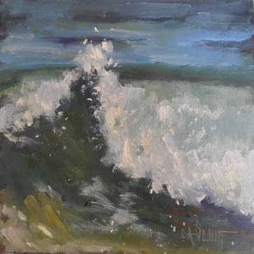 Ocean Wave Painting, Coastal Painting, Daily Painting, Small Oil Painting, SOLD