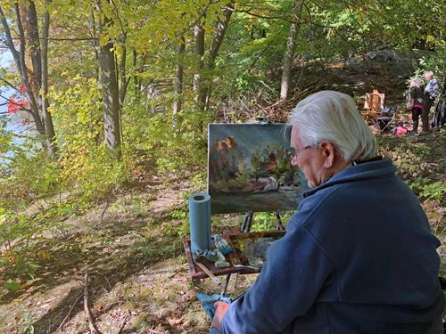 Me - Autumn Plein Air Painting - Photo