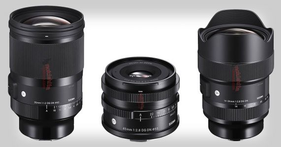 Photos and Pricing of Sigma 14-24mm f/2.8, 35mm f/1.2 and 45mm f/2.8