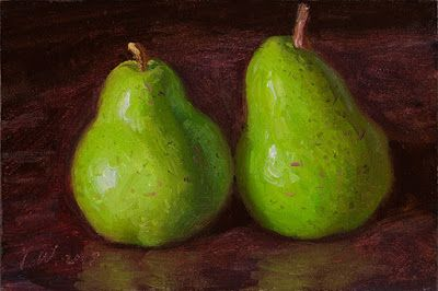 Pears painting