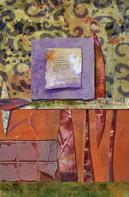 """Mixed Media Contemporary Abstract Painting on Paper """"Trust the Journey"""" by Santa Fe Contemporary Artist Sandra Duran Wilson"""