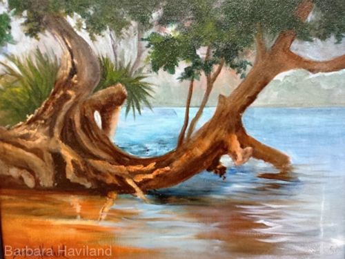 "Who would not want to be on a ""Beach Cove"" ,Seascape,Barbara Haviland,Signature member Artists of Texas"