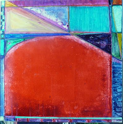 "Contemporary Geometric Abstract Painting ""Rodeo Drive"" by Contemporary New Orleans Artist Lou Jordan"