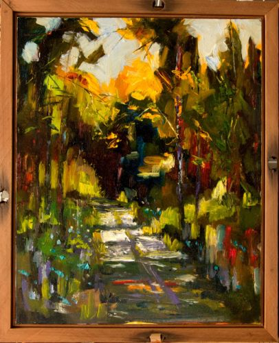 Artoutwest Framed Landscape Contemporary Original Oil Painting by Montana Artist Diane Whitehead