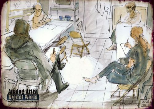 Crealde School of Art Urban Sketching Class