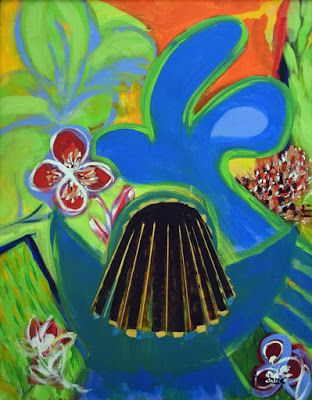 """Contemporary Environmental Painting """"Coming Home"""" by International Contemporary Abstract Artist Arrachme"""