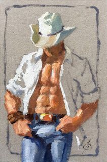 AMERICAN COWBOY, FIGURATIVE by TOM BROWN