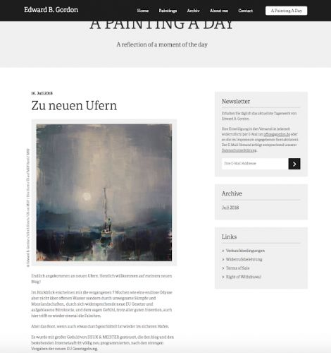Neuer Blog / New Blog