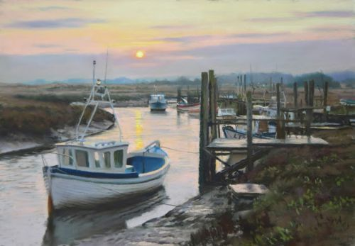 Rising Sun and Tide at Thornham