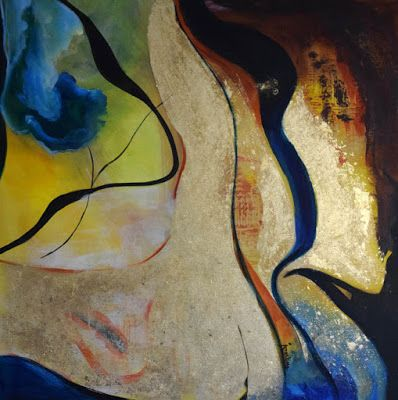 """Abstract Painting, Contemporary Art """"Deeper Findings"""" by International Contemporary Abstract Artist Arrachme"""