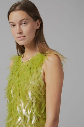 Algae Sequins Embellish a Petroleum-Free Dress Designed by Phillip Lim and Charlotte McCurdy