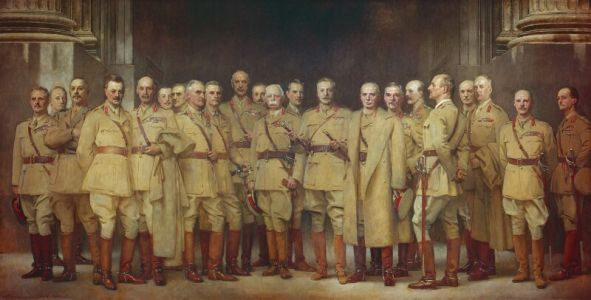 Great War Group Portraits Displaying Commentary