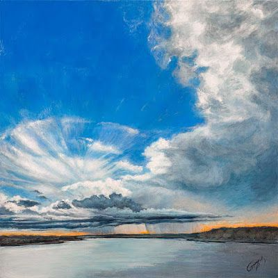 Rain and Blue Sky | Skyscape by Rebecca Zook