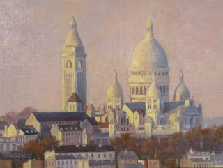 SOLD 'First Night in Paris ' Il a Commencé à Paris Series An Original Oil Painting by Claire Beadon Carnell