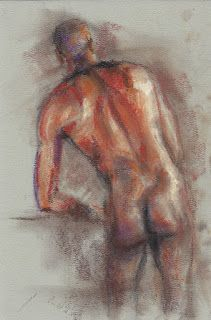 Leaning male nude