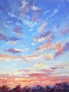 Cloud Light, New Contemporary Landscape Painting by Sheri Jones