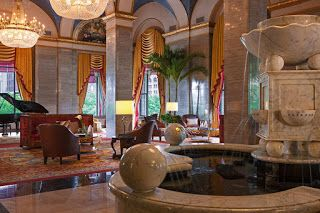Let's draw Public Square from the Renaissance Hotel Lobby