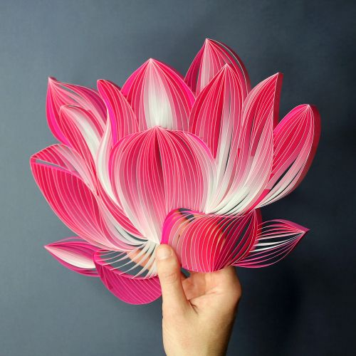 Bold Paper Quilled Artworks by JUDiTH + ROLFE Burst With Color and Character