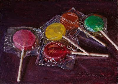 Lollipops painting