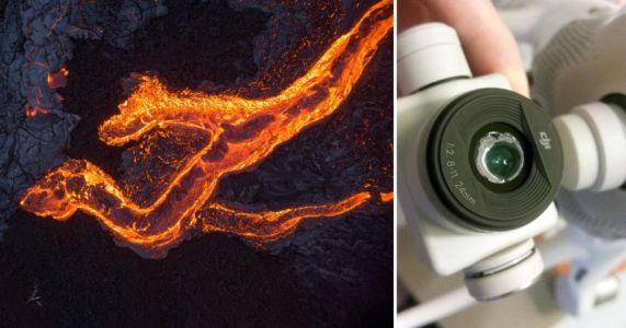 This Photographer Melted His Drone Shooting Photos of Lava