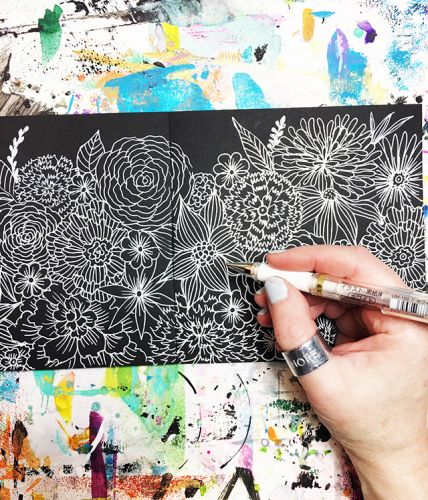 A peek inside my process: black and white doodles