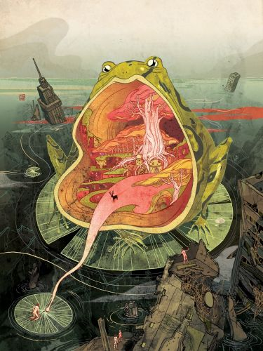 Multi-Dimensional Illustrations Weave Together Mysterious Narratives by Victo Ngai