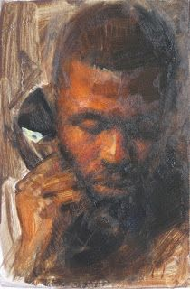 """Private call"" 4×6 male portrait"
