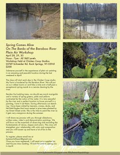 Spring Workshop April 28, 29, 30